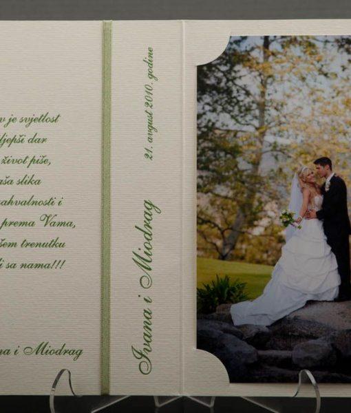 Pozivnice za vjencanje - foto zahvalnica 460 - slika 3