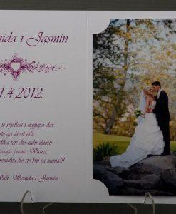 Pozivnice za vjencanje - foto zahvalnica 6124 - slika 3