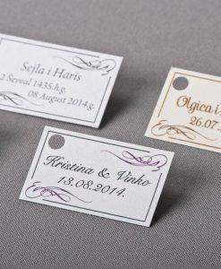 Pozivnice za vjencanje Megatrend 2015 - kartica sa imenima i datumom - 562-2
