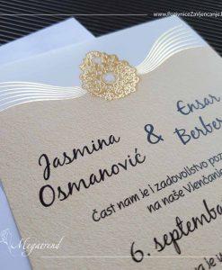 Pozivnice za vjenčanje Megatrend Brčko - pozivnica za vjenčanje model 10377 sa kovertom