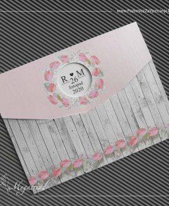 Pozivnice za vjenčanje Megatrend Brčko - pozivnica za vjenčanje model 10486 moderna bez koverte