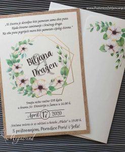 Pozivnica za vjenčanje 10558