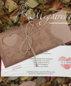 Pozivnica za vjencanje Megatrend 5669