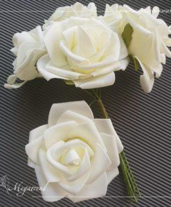 Repromaterijal - Megatrend - 857 Velike ruže BIJELA bidermajer 1
