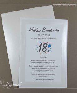 Pozivnica za rođendan 5396R - Megatrend Brčko